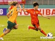 2014年女足亚洲杯决赛圈:澳大利亚队以2比0小胜越南队