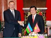 阿塞拜疆总统阿里耶夫圆满结束对越进行的国事访问