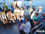 越南被中国舰船撞沉的渔船上渔民已安全到岸