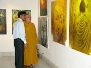 """""""佛祖得道""""印度佛教图片展在河内举行"""