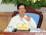 阮晋勇总理与海防市选民接触