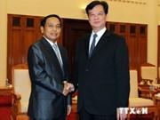 越南政府总理阮晋勇会见老挝政府监察总署总监察长