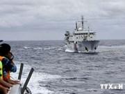 现场报道:中国在非法架设钻井平台海域部署6艘军舰