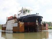 越南出口荷兰的ATD 2412号拖船成功下水