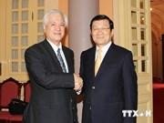 张晋创主席会见日本国际合作银行总裁渡边博史