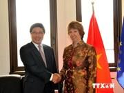 范平明副总理同德国外长、丹麦外交大臣及欧盟外交事务和安全政策高级代表举行会晤
