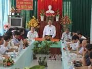 越南政府副总理武文宁莅临平定省调研