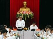 越共中央书记处常务书记黎鸿英同志在岘港市调研