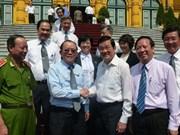 越南国家主席张晋创同律师联合会代表举行工作会议