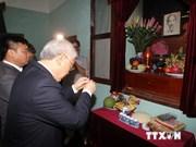 越共中央总书记到胡主席遗迹区进香缅怀胡志明主席
