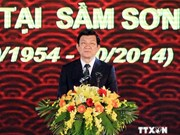 张晋创主席出席在南方的越盟士兵向北方转移60周年纪念典礼