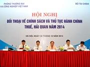 越南税务政策与海关手续2014年企业对话会在河内举行