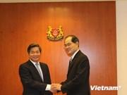 越南计划与投资部部长裴光荣访问新加坡