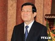 越南国家主席张晋创启程出席亚太经合组织第22次领导人非正式会议