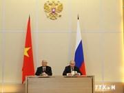 越俄发表联合声明继续深化全面战略伙伴关系