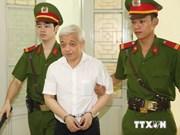 越南河内市最高人民法院开庭复审被告人阮德坚和同犯