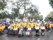 逾1500人参加在河内举行的为残疾人走步活动