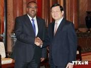 越南国家主席张晋创会见埃塞俄比亚副总理梅孔嫩