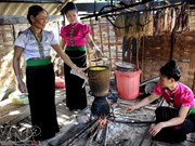 越南西北地区的五彩糯米饭