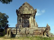 一架无人机在柬泰边境地区的柏威夏寺附近坠毁