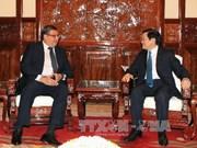 越南国家主席会见智利大使