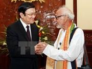 越南国家主席会见印度西孟加拉邦-越南团结委员会代表团