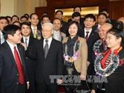 越共中央总书记阮富仲会见中央企业口党委60名优秀党委书记