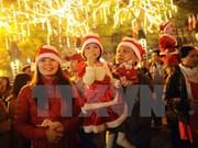 越南全国各地洋溢着圣诞喜气氛