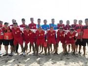 越南沙滩足球队晋升亚洲四强