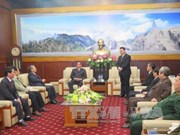 越共中央书记处常务书记黎鸿英访问老街省