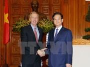 越南政府总理阮晋勇会见美国驻越大使奥修斯