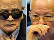 柬埔寨审判红色高棉特别法庭重新开庭审理前红色高棉两领导人