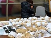 查获非法贩卖和运输的33公斤黄金首饰 总金额达约100万美元