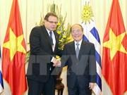 越南国会主席与乌拉圭东岸共和国众议院议长举行会谈