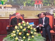 越南河内市委书记会见梵蒂冈城国教廷万民福音部部长