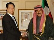 政府总理阮晋勇接见科威特石油部长