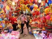 组图:首都河内马行街各式彩灯五彩缤纷喜迎中秋