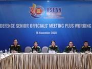 组图:东盟高级国防官员工作小组扩大会议 (ADSOM+WG)以视频形式召开