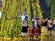 组图:平安夜将至 越南全国各地圣诞气息浓厚