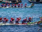 组图:李山岛四灵物船划船比赛精彩纷呈