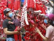 组图:越南各地洋溢着圣诞节气氛
