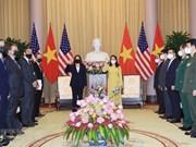 组图:越南国家副主席武氏映春会见美国副总统卡玛拉•哈里斯