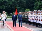 马来西亚总理马哈蒂尔开始访问越南(组图)