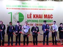 第十届越南环境技术和能源国际展览会开幕(组图)T