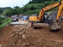 越南北部山区遭暴雨洪水袭击 道路冲断 农户损失惨重(组图)