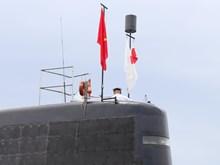 日本海上自卫队的潜舰黑潮访问金兰港(组图)