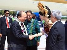 越南政府总理阮春福抵达印尼 出席东盟领导人见面会(组图)
