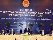 政府总理阮春福与全球各家集团领导进行对话