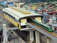 越南河内市吉灵-河东线轻轨项目开始试运营(组图)