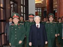 越共中央总书记、国家主席阮富仲出席2018年全军军政会议(组图)